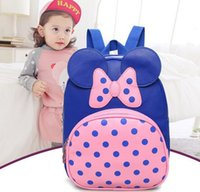 New Lovely Dot And Bows Kid Bag Mochila Kids School Bags Para Boy Girl Baby School Backpack Jardim de infância