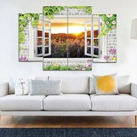 Wholesale Outside Window - Outside The Window Beautiful Scenery Frameless Paintings HD Print Painting