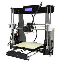 Wholesale Reprap Kit Full - Freeshipping Big Size 220*220*240mm High Quality Precision Reprap Prusai3 DIY 3D Printer Kit with Filament 8GB SD card & LCD