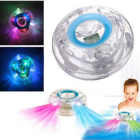 Wholesale Bath Toy Wholesale - 2017 New LED Bath Toys Party In The Tub Light Waterproof Funny Bathroom Bathing Tub LED Light Toys for Kids Bathtub Children Funny Time