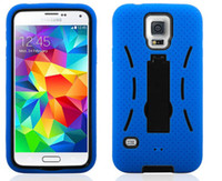 Wholesale M7 Case Holster - Holster Kickstand Cases For Samsung S5 Galay S5 HTC One M7 PC+Silicone Dirt-resistant Anti-fall High quality Case Customized