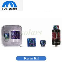 Wholesale Demon Glass - Authentic Demon Killer Resin Kit Glass Tubes and Drip Tips for TFV8 Baby TFV12 Eleaf Melo 3 and Mini Ijust S Aspire Cleito
