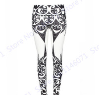 Wholesale Tight Waisted Women - White Women Compression Yoga Pants Grey Willow Leaves Sports Jogging Tights Stretchy Slim Fitness Gym Leggings Sexy High Waisted