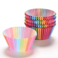 kekler için pişirme kağıdı toptan satış-100 adet Cupcake Gömlekleri Kalıp Muffin Yuvarlak kağıt Bardak Kek Aracı Bakeware Pişirme Pasta Araçları Mutfak Alet Cupcakes tepsi KT0042