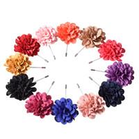 Wholesale Wholesale Men Linen Sets - Argositment 12pcs Handmade Linen and Alloy Wedding Lpael Pin Flower Boutonniere Set for Men with Gift Box Packing