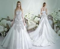 Wholesale Open Advanced - Dubai Crystal Mermaid Wedding Dresses 2016 dar Sara Bridal Open Back Scoop Neckline Sweep Trian Plus Size Bridal Gowns 2017 Advanced Custom
