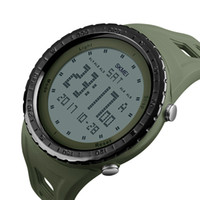 Wholesale Watch Double Time - SKMEI 1246 Men Sports Watches Countdown Chrono Double Time EL Light Digital Wristwatches 50M Water Resistant Relogio Masculino