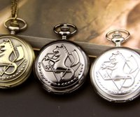 Antique Alchemist Alchemist Anime Necklace Steampunk Horse Knight Pocket Watch Necklace Cosplay Edward Elric com Cadeia Anime Gift
