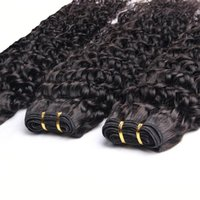 Virgin Brazilian Curly Hair Weave 3 Bundles 7A Unprocessed Brazilian Remy Human Hair Weave Extensions Natural Black Hair Color Peut être teintée a