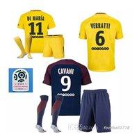 Wholesale Men Saint - 2017 2018 Best Quality Paris adult kit Football jersey Saint Di Maria Matuidi Silva WIJNALDUM FIRMINO Cavani soccer shirt + sock