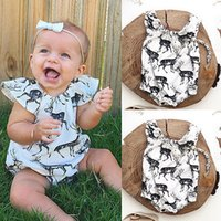 Wholesale Adorable New Funny Newborn Baby Girl Deer Rompers Jumpsuit Bodysuit Sunsuit Outfit One piece