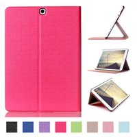 Wholesale S2 Case Ups - For Samsung Galaxy Tab S2 9.7 T810 Case Book Flip Folio PU Leather Stand Cover for Samsung Tab S2 SM-T815 Sleep Wake Up Function