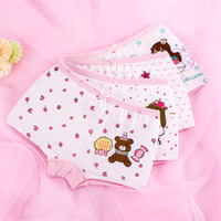 Wholesale Panties Rabbit - Cute rabbit princess childrens underwear cotton cartoon print baby baby flat pants girl underwear panties 3 style 6 size