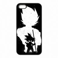 Wholesale black water dragon - DRAGON BALL Z Super Saiyan God Son Goku Phone Covers Shells Hard Plastic Cases for iPhone 4 4S 5 5S SE 5C 6 6S 7 Plus ipod touch 4 5 6