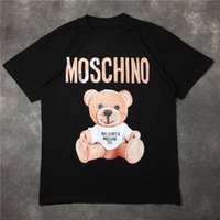 Wholesale T Mouth - Little Bear Transformer Eye Shark Mouth 2017 Moschin O Men's T shirt summer High Street trend leather toy Printed Masculino Tops Cloth