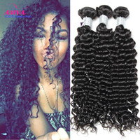 Wholesale Cheap Malaysian Curly - Peruvian Indian Malaysian Mongolian Cambodian Brazilian Deep Curly Virgin Hair Weaves 3 4 5 Bundles Cheap Curly Remy Human Hair Extensions