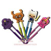 Wholesale Adventure Time Pvc - 4pcs lot Cute The Adventure Time Cartoon PVC Bookmarks Clips Party Decoration KidS Gifts Party Favors Book Accessories