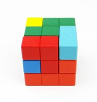 Wholesale Wooden Tetris Magic Cube Puzzle Burr Puzzles Brain Teaser Intellectual Jigsaw Toy for Fostering S T E M Skills