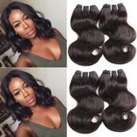"Wholesale Brazilian Virgin 6pcs - Brazilian Virgin Hair Body Wave 6Pcs 8""Short Human Hair 7A Unprocessed Human Hair Extensions Bundles 50g pcs"