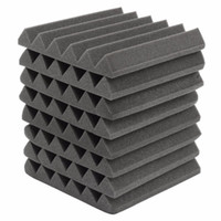 Wholesale Wholesale Soundproof Foam - 2017 Newest Fireproof 300 x 300 x 50mm Acoustic Foam Soundproofing Treatment Studio Room Absorption Polyurethane foam Wedge Tiles