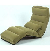 Wholesale Floor Folding Chaise Lounge Chair Modern Fashion Colors Sofa Living Room Comfort Daybed Lazy Reclining Upholstered Sleeper Sofa Bed