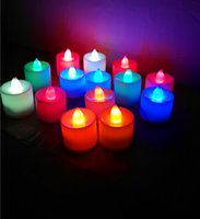 Wholesale Christmas Projection Lamp - Christmas led tea lights battery operated tea light candle Flicker Flameless LED Tealight Wedding Birthday Party Christmas Decoration