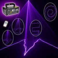 Wholesale Dmx Laser Purple - Wholesale- Free shipping MINI PRO IR Remote 8 CH DMX 150mW Purple Color Laser Scanner Lights DJ Party Bar Projector Stage Lighting V150
