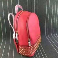 Wholesale Luxury School Bags - M 2017 Luxury brand women bag School Bags Fashion Famous designers rivets backpack women travel bag backpacks laptop bag Free shipping