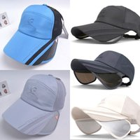 Wholesale Topi For Women - Hats for men and women brim scalable topi female han edition sunbonnet outdoor summer baseball cap is prevented bask in fishing together