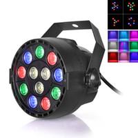 disco-laserstrahl großhandel-Bühnenlicht 12x3W Flache LED Par RGBW DMX512 Disco Lampe KTV Bar Hintergrundbeleuchtung Laserstrahl Projektor Dmx Controller Strahler LEG_90O