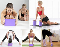 Wholesale 2016 hot sale Lady Yoga Pilates Foam Foaming Block Brick Stretch Aid Health Fitness Exercise Gym
