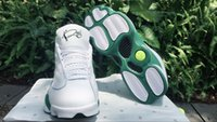 Wholesale Clover Fabric - brand XIII 13 Retro RAY ALLEN CELTICS PROMO WHITE CLOVER GREEN 11 13s boy trainers new design top design quality