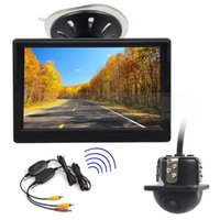 Wholesale Wireless System Car - Wireless 5inch Rear View Monitor Car Monitor Mini Car Cam Rear View Car Camera Reversing System