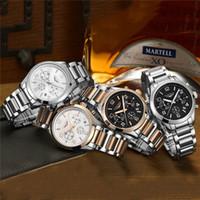 Wholesale Guanqin Watches - Relogio Masculino GUANQIN Watch Men Business Chronograph Date Luminous Wristwatch Mens Luxury Brand Stainless Steel Quartz Watch 1509006