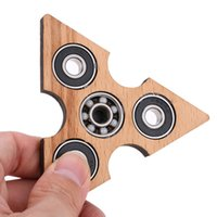 Wholesale Wholesale Audlt Toys - Tri Fidget Spinner Wooden Triangle Puzzle Hand Spinner EDC Focus Toys For Children Audlt ADHD Antistress Finger Spinner Game