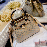 Wholesale New Ribbon Embroidery - 2016 new European style retro fashion handbag bag lady Kylie Bag Shoulder Messenger Bag