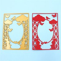 Wholesale Bird Picture Frames - Birds and clouds die cutting dies stencil for Scrapbook card picture frame envelope decorative metal cutting dies
