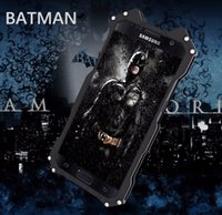 Wholesale Phone Batman - R-JUST BATMAN phone case For Samsung Galaxy S7 S7 Edge S6 S6 edge note 5 case Armor Aluminum Metal Phone phone bag case