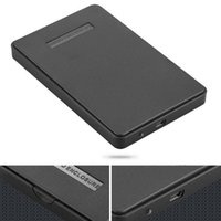 kaliteli sabit diskler toptan satış-Sabit Disk için Yeni Siyah Harici Muhafaza Disk Usb 2.0 Sata Hdd Taşınabilir Kılıf 2.5