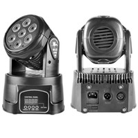 Wholesale Dmx Moving Light - Fast Delivery 70W Led Moving Head Lights Mini Zoom Stage Spotlight DJ Disco Party Club Live Concert DMX Lighting Equipment