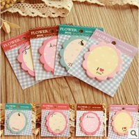 Wholesale Memo Sticker Diy - Wholesale- 10pcs lot Cute Kawaii Flower Memo Pad Sticky Note Paper Sticker Planner DIY Scrapbooking School Office Supplies Stationery 01803