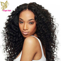 Wholesale french curls virgin hair for sale - Group buy Virgin Malaysian Human Hair Full Lace Wigs Kinky Curly Glueless Lace Front Human Hair Wig Curls With Bleached Knots Baby Hair