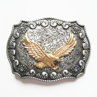 JEAN'S FRIEND Neue Original Western Rodeo Fliegen Eagle Double Color Gürtelschnalle Gurtelschnalle Boucle BUCKLE-WT128 Nagelneu