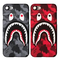 Wholesale Iphone Luminous Back - For iphone 6s 6plus 7 7plus Hard PC Protection Shell Back Cover Luminous Shark Cell Case for iphone 6s 7 plus