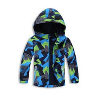 Wholesale 12 Decks - 2017 Spring Jacket Girls Boys Casual Windbreaker Jackets Coats Kids Outerwear Sporty with hoodie Clothes Double-deck Waterproof