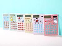 Wholesale Calendar Solar - Original single cartoon portable mini portable slim student environmental solar touch screen calculator card