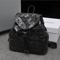 Wholesale Diamond Girls - Free Shipping Backpack Noctilucent Women Bags Laser Lattice Geometric Bao bao Stitching Diamond Lattice Backpack for Teenage Girl School Bag