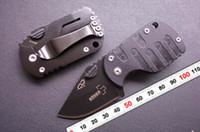 Wholesale Boker Pig - 2PCS LOT Boker QQ Black Pig Hunting Folding G10 handle Pocket Mini knife 55HRC 420 Tactical Free shipping