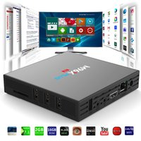 Wholesale Os Media Player - Amlogic S912 TV BOX M96X Plus 2G16G Octa core Android 7.1 OS Dual AC WiFi BT4.0 1000M Lan CODI KD17.3 installed Android TV Media Player