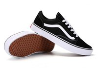 Wholesale Van Leather - Size 35-45 Classic Old Skool Low Cut Casual Canvas Shoes Classical White Black Brand Women And Mens Sneakers Skateboarding Shoes van 350